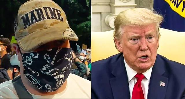 Trump says veterans' 'wall' of protectors and 'line of innocent mothers' were 'anarchists who hate our country'