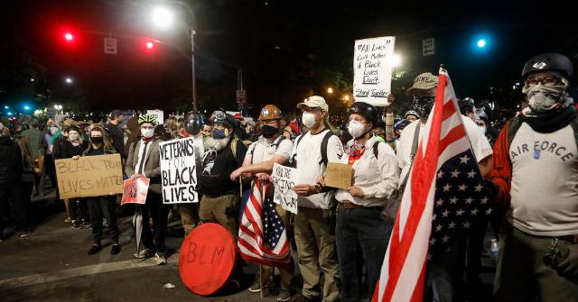 'Enough Is Enough': A 'Wall' of Veterans Joins Portland Protesters