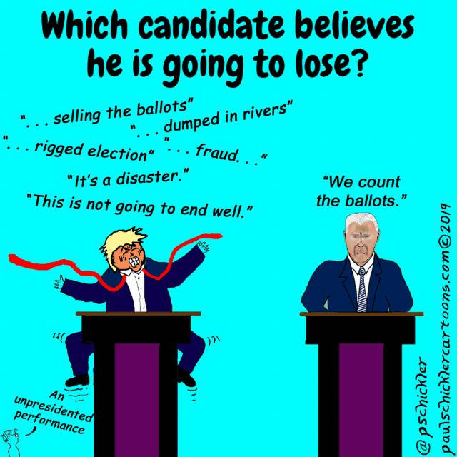 Cartoon: Which candidate believes he is going to lose?