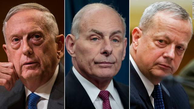 Prominent military leaders who have come out against Trump's actions