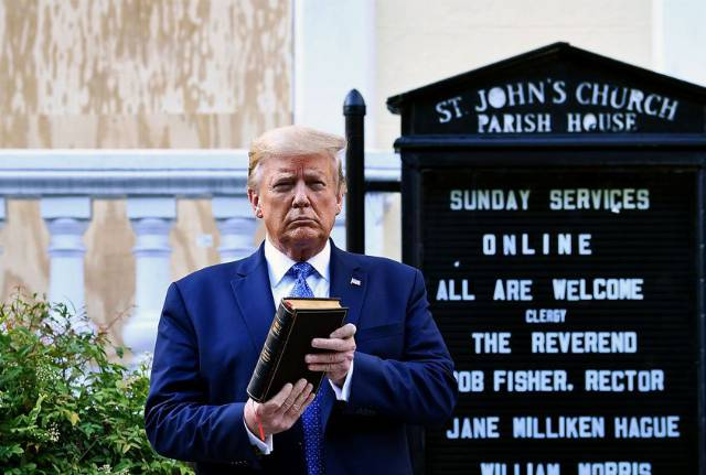 Trump uses religious words and references to God at a higher rate than past presidents