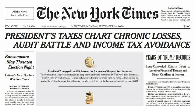 New York Times on the Unrepentant Tax Cheat