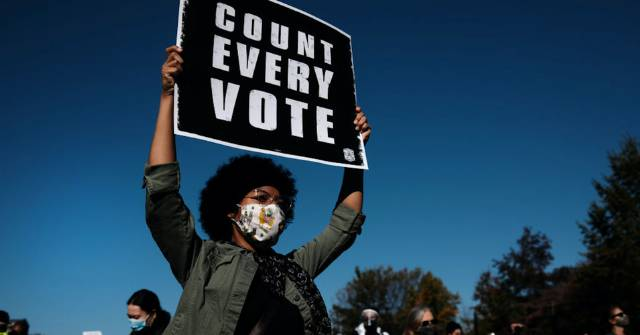 Standing United Against Trump's Threat to Democracy, Protesters From Coast to Coast Urge Officials to 'Count Every Vote'