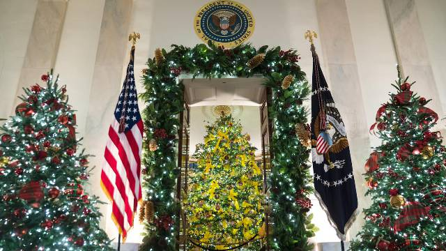 Melania Trump's normal Christmas decorations reveal her secret
