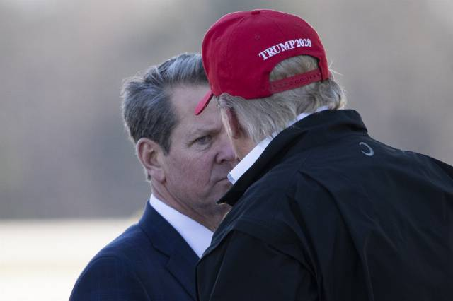 Trump tells GA Gov. Kemp to 'call off election' because 'it won't be needed'